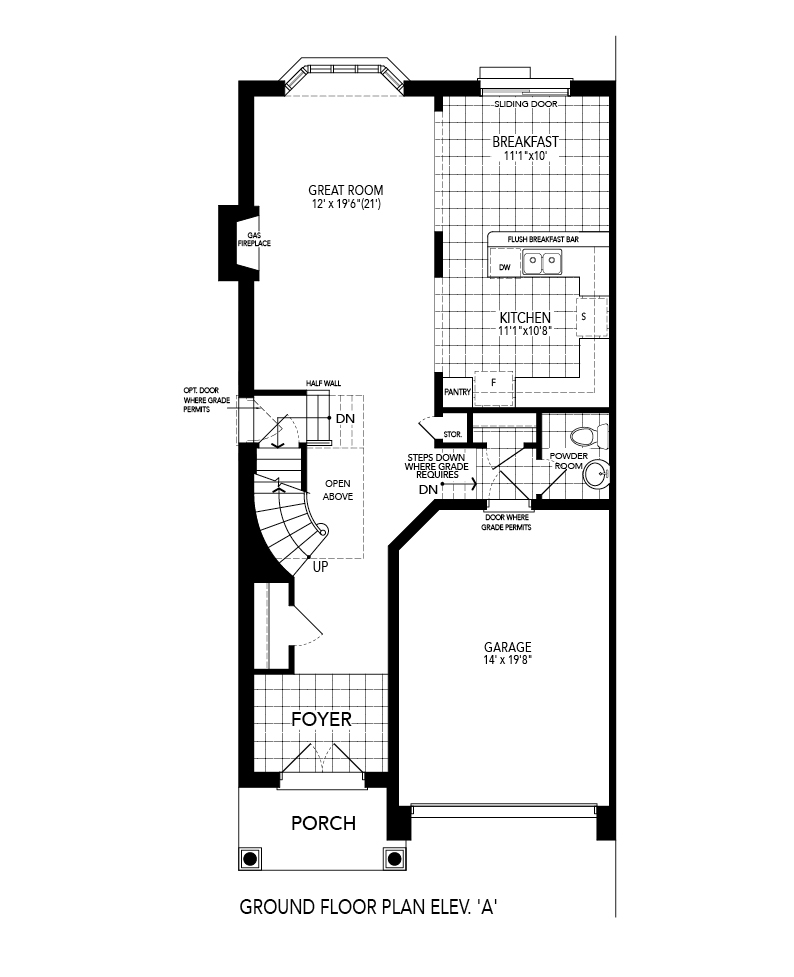 Dorset 1 Ground Level Floorplan