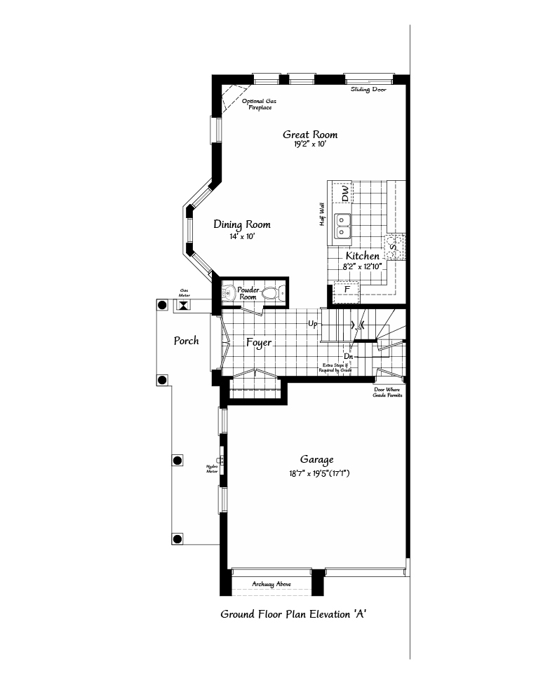 Belvedere Ground Level Floorplan