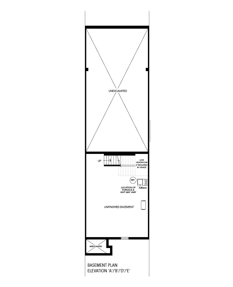 Dorset 1 Basement Floorplan