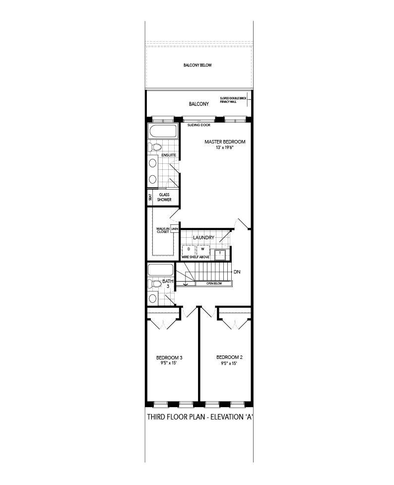 Dorset 1 third level Floorplan