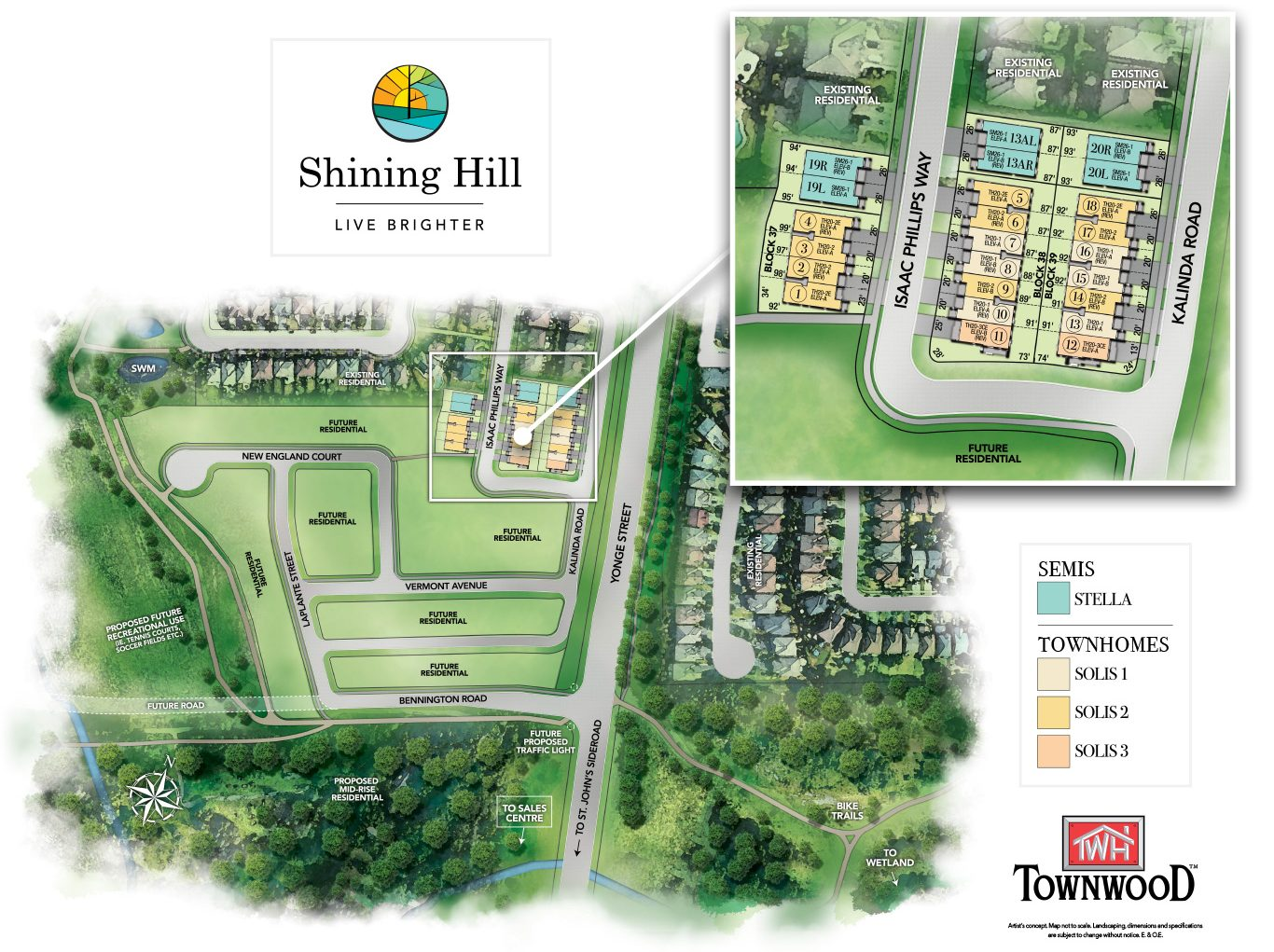 Shining Hill Siteplan