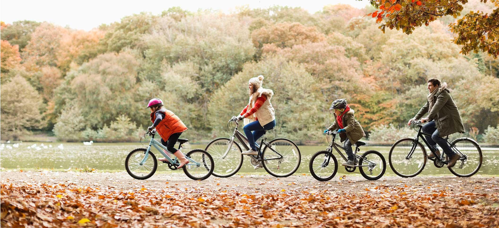 Family Biking in the Park
